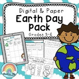 EARTH DAY Pack - Year 3 - 6 { Paper & Digital VERSIONS }