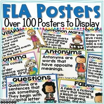 English Language Arts/Literacy Posters Bundle