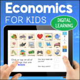 Goods, Services, Needs & Wants Primary Economics DIGITAL Learning BOOM Cards