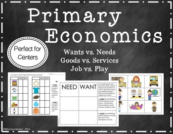 Needs and Wants Goods and Services Activities for Personal Finance and Economics