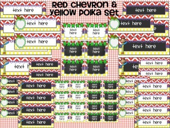 Primary Editable Labels, Desk Plates, and Banners: Chalkboard/White Centers