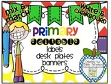 Primary Editable Labels, Desk Plates, and Banners: Chalkbo