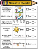 Kindergarten Editing Checklist - Narrative Writing