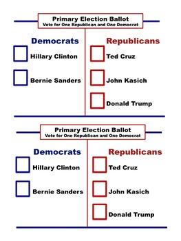 Primary Election Ballot 2016