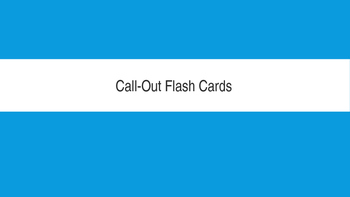 Primary Electronic Flash Cards
