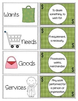 Primary Elementary Economics Packet