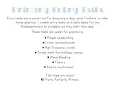 Primary Entry Tasks
