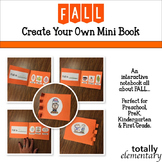 Primary Fall Interactive Notebook - Mini Book