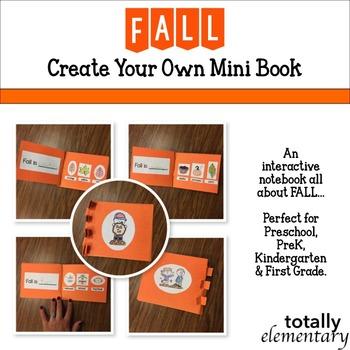 Primary Fall Interactive Notebook - Mini Book