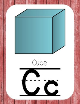 Primary Farmhouse Style Alphabet-Red
