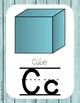 Primary Farmhouse Style Alphabet-Turquoise