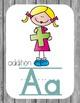 Primary Farmhouse Style Alphabet based on Math Vocabulary-Dark Gray
