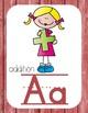 Primary Farmhouse Style Alphabet based on Math Vocabulary-Red