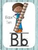 Primary Farmhouse Style Alphabet based on Math Vocabulary-Turquoise