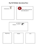 Primary Fictional Narrative Graphic Organizer