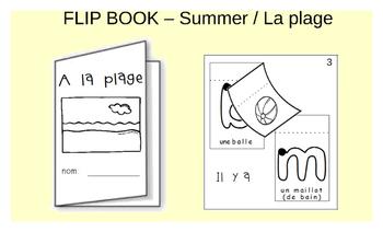Primary Flip book - Summer at the Beach / L'été à la plage