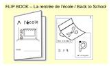 Primary French Flip book - La rentrée / Back to School