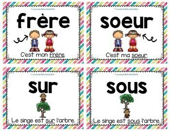 Primary French Sight Word Flashcards / Mots de haute fréquence