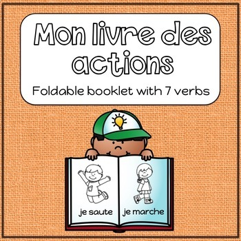 Primary French Verb Booklet / Colouring Book