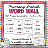 Primary French Word Wall (Add-on) / Mur de mots fréquents