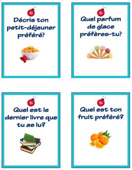 French Primary Writing Prompts: 100 Question Cards for Discussion and Journals