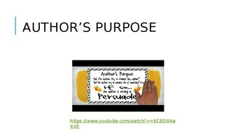 Primary Friendly Author's Purpose PowerPoint