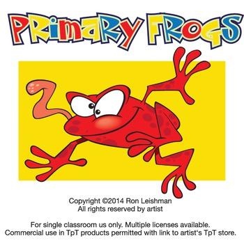 Primary Frogs Cartoon Clipart