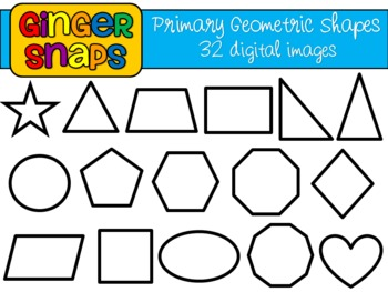 Primary Geometric Shapes Clip Art Set