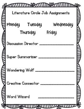 Primary Grade Literature Circles