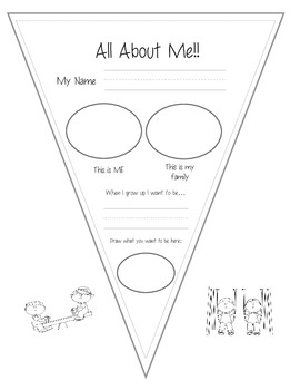 Primary Grades All About Me Pennant