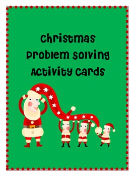 Primary Grades Christmas Problem Solving task cards