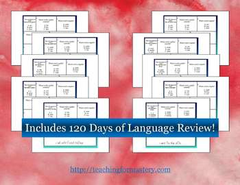 1st Grade Common Core Daily Language Review, All 3 Skills Packs! *120 days*