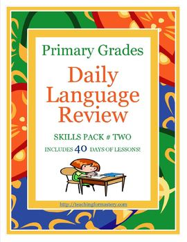 1st Grade Common Core Daily Language Review, Skills Pack #