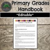 Primary Grades Handbook - Editable Start of School Newsletter