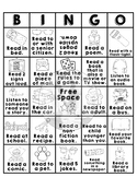 Primary Grades Home Reading Bingo - Reproducible Worksheet