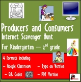 Internet Scavenger Hunt - Primary Grades - Producers and Consumers