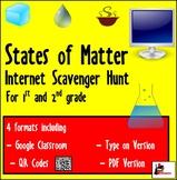 Internet Scavenger Hunt - States of Matter - Distance Learning