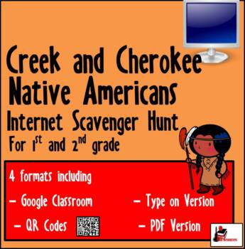 Internet Scavnger Hunt - Primary Grades - Creek & Cherokees