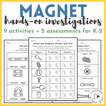 Primary Grades K-2 Hands-On Magnets Investigations, Activities & Assessment