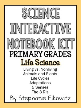 Life Science Interactive Notebook Foldables (K-2)