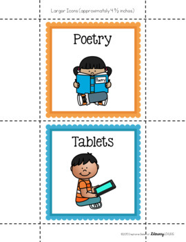 "Literacy Centers ""I Can"" Charts and Icons: Primary Grades"