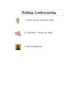 Primary Grades Peer Conferening Card for students to refer to