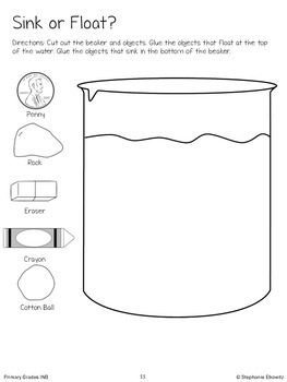 Physical Science Interactive Notebook Activities (Primary Grades)