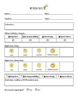 Primary Grades Think Sheet