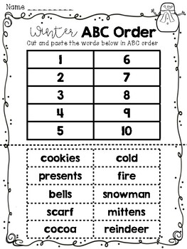 Primary Grades Winter Math and Literacy Pack
