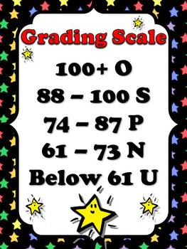 Primary Grading Scale Poster 2 (Modified) - Superstars Theme - King Virtue