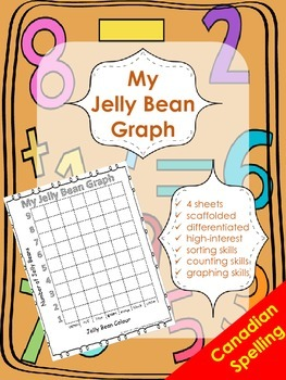Jelly Bean Graphing - Graphing by Colour Attribute - Canadian Spelling
