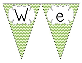 Primary Green Chevron Welcome Pennant