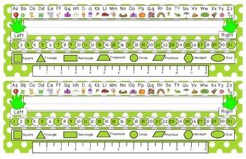 Primary Green Polka Dot Desk Reference Nameplates Version 2
