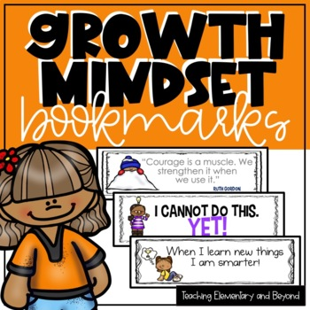 24 Primary Growth Mindset Bookmarks
